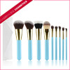 Wholesale cosmetic brushes,9pcs makeup brush set,custom cosmetic brush set