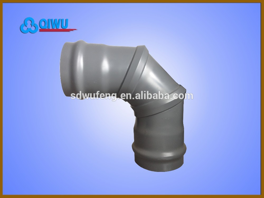 Pipe fitting PVC-U/PVC Double Socket 90 Degree Elbow for water ...