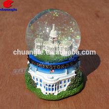 Resin Snowglobes, Building Water Globe, Snow Ball Souvenir