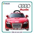 2014 nova licenciada audi crianças carrodobrinquedo batter operado r/c passeio no brinquedo do carro elétrico para crianças passeio em carro de brinquedo