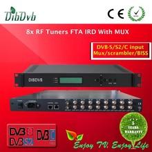 dvb-s2 to ip gateway satellite receiver 8 fta tuners