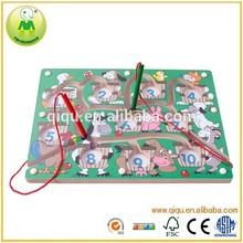 magnético juego de los animales de granja laberinto de madera