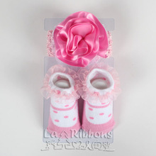 Baby Headbands & Socks Gift Set,Flower headband Fashion Baby Accessories