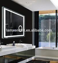 Modern bathroom magnifying illuminating mirror France