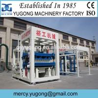 Economical Yugong cement brick machine, PLC Control System concrete brick making machine, cement brick making machine