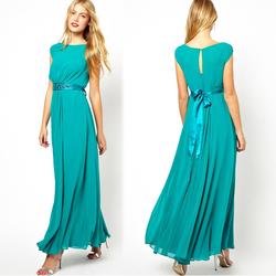 women summer fashion hand beaded long dresses wholesale chiffon maxi dress