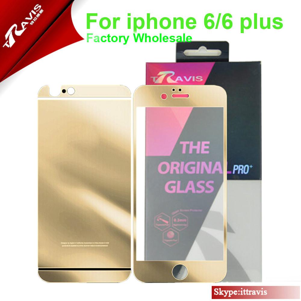 พรีเมี่ยมที่ชัดเจนสีทองกระจกป้องกันหน้าจอสำหรับiphoneiphone5และ6