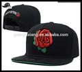 bordado 5 sombreros panel personalizado floral apartamento bill snapback gorra con tejido de la etiqueta al por mayor