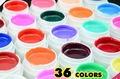 Guangzhou Ezflow 36 couleurs solide pur Mix couleur Bulid Gel UV Gel 8 ml