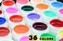 Guangzhou Ezflow 36Colors Solid Pure Mix Color Bulid Gel UV Gel 8ml