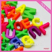 Mixed color acrylic slider letter beads for DIY bracelet P00507