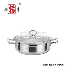 New Design 28-32cm Korean Style Stainless Steel Casserole Hot Pot
