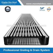Stainless steel linear floor drain grate, linear shower drain grates