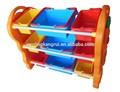 Pequeno barato plástico prateleira de canto para crianças brinquedo de armazenamento