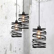 alibaba express interior decoration vintage colorful iron and edison light bulb cylinder shade led pendant lighting