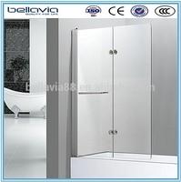 bathtub hinge shower screen