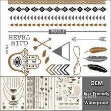 OEM Sex Body Beauty Maker Products Temporary Tattoo Hot Sale Fashion Design Bracelets Jewelry Metallic Tattoo custom sticker