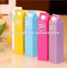 2600mah Smallest Universal USB Backup Power/Mobile Milk Cute Power banks