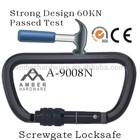 Heavy duty 60KN Steel carabiner,Steel Hook, Metal Hook