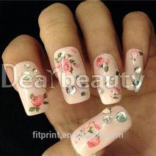 2015 Dearbeauty nail art sticker/ Gold nail tattoo Custom nail art accessory /Fashion design nail art