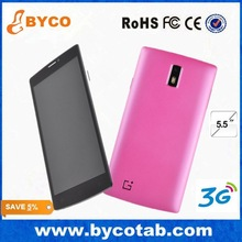 New Product 5.5inch quad core 3G 1900 smart cellphone / Pink blue green very cheap big screen android phone