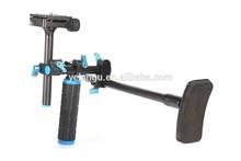 Single Handle Lightweight 15 mm Rail Rod DSLR Shoulder mount For Camera Camcorders