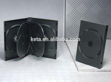 22mm 5 discs 2 trays Black Plastic DVD Case, DVD Box