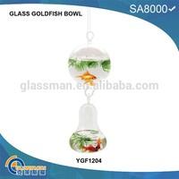 hanging handmade glass ball for fish