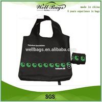 Promotional foldable nylon bag for shopping,folding nylon tote bag,foldable nylon bag