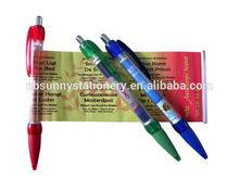 best sale promotional banner pen ,pull out banner pen