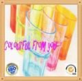 nuevo diseño de plástico irrompible de color de vasos de vidrio