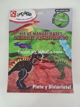 DIY 3D EVA foam dinosaur for kids