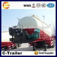 air compressor with 60CBM bulk cement semi trailer export to Africa