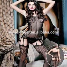 Sexy Women Black Fishnet Open Crotch Bodystocking