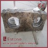 Dark emperador marble vanity top, laminated top