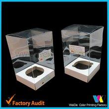 Transparent plastic cupcake box