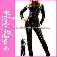 2012 Fashion Wholesale Black Sexy Leather Bodysuit