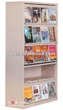 Magazine Rack,one sides Book Shelf;Wooden bookshelf,Metal Bok Shelf