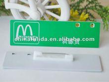 plastic pvc logo name badge, acrylic name plate, abs name tag