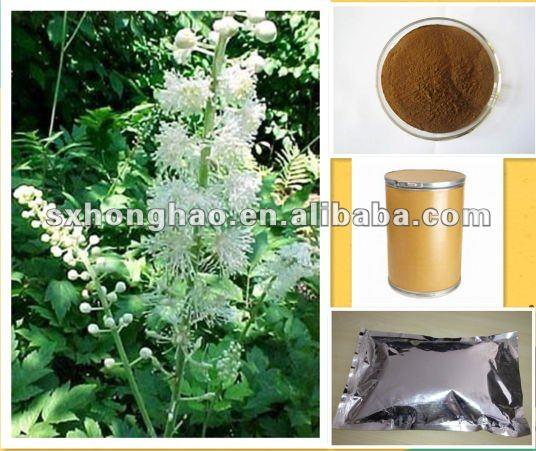 100% Natual 2.5% 5% Triterpene glycosides Black Cohosh Extract