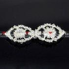 fashion bulk snap rhinestone metal wedding invitation button WBK-1087