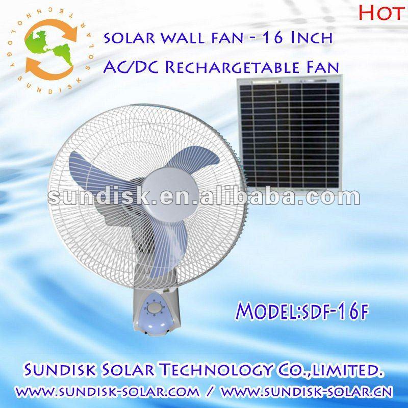 Solar Cooling Fan Cooling Solar Fan 16 Inch