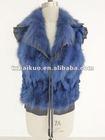 2012 ladies' fashion sheep leather vest