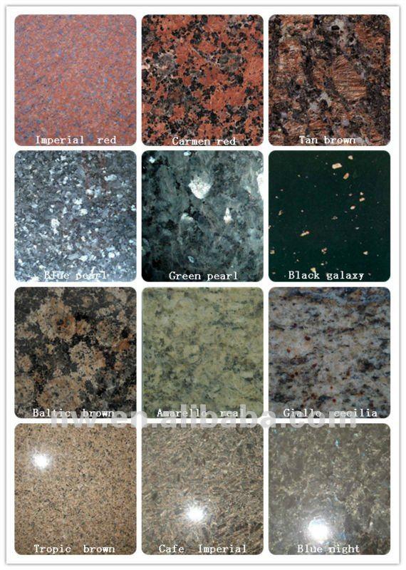 Granite tiles,Popular granites for countertop,granite table or stairs