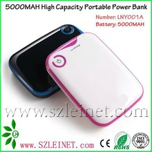 2012 New Products 5000mah High Capacity mini power bank for iphone