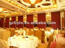 Restaurant acoustic movable partitions