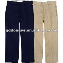 Cotton khaki uniform pants