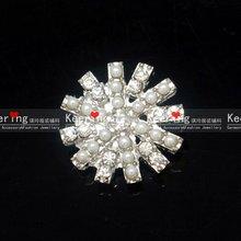 Christmas Snow Rhinestone Beads Button Garment WBK-1118