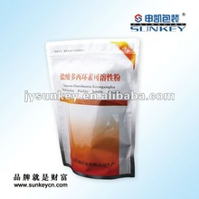 resealable stand up pouch with zipper