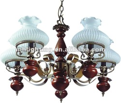 2012 lighting collection wood and glass chandelier
